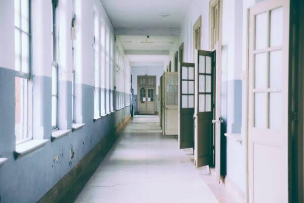 A school hallway