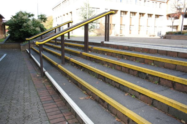 steps with anti slip tape