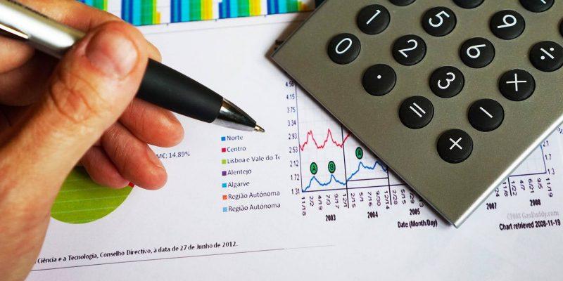 A calculator and graph