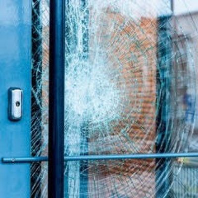 a cracked window